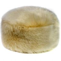Moore and Moore Honey Faux Fur Pill Box Hat